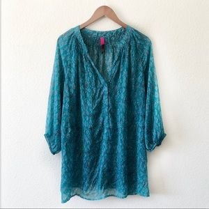 3/$20💜 Pure Energy Leopard pattern sheer blouse